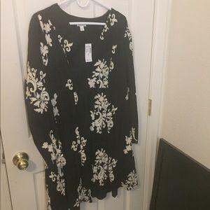 XL Black and Cream Dress NWT